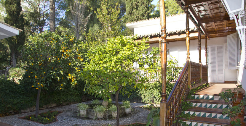 unique villas mallorca beautiful villa for sale in Son Vida patio