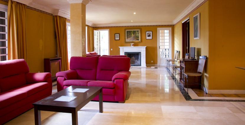 unique villas mallorca lovely villa to be reformed for sale in Son Vida living room