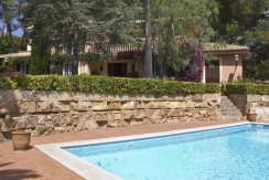 unique villas mallorca lovely villa to be reformed for sale in Son Vida swimming pool area