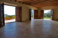 unique villas mallorca new build country house for sale in Valldemossa living area
