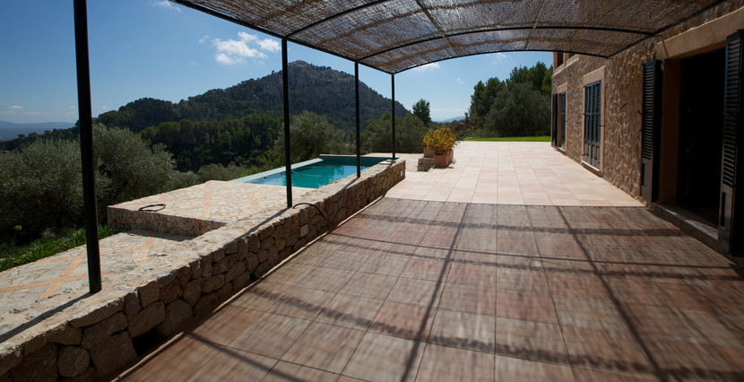 unique villas mallorca new build country house for sale in Valldemossa swimming pool & views