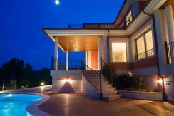 unique villas mallorca new modern villa for sale in Son Vida night view