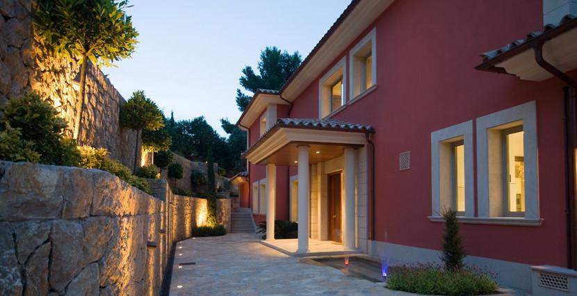 unique villas mallorca new modern villa for sale in Son Vida sunset