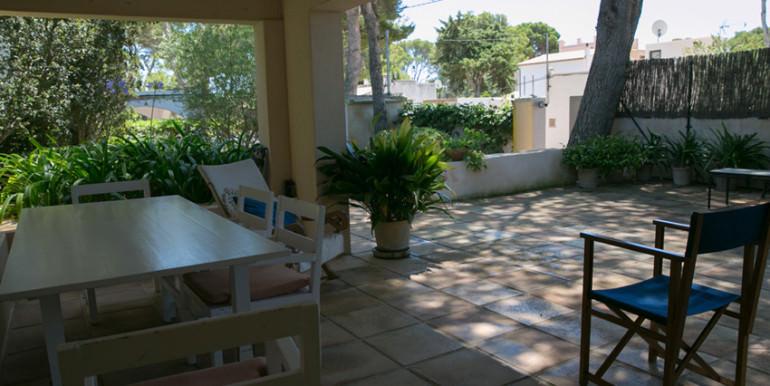 unique villas mallorca summer house for sale in Cala Ratjada covered terrace
