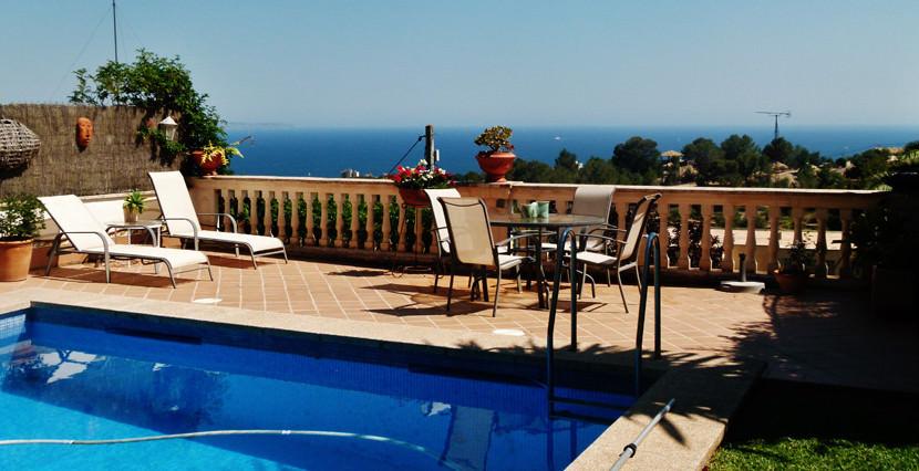 unique villas mallorca villa with seaviews for sale in Genova views