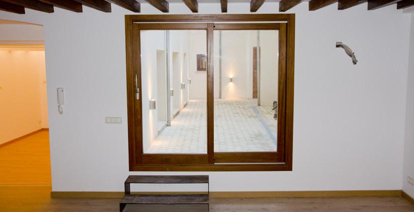 unique villas malorca ground floor duplex for sale near San Miguel, Palma terrace view