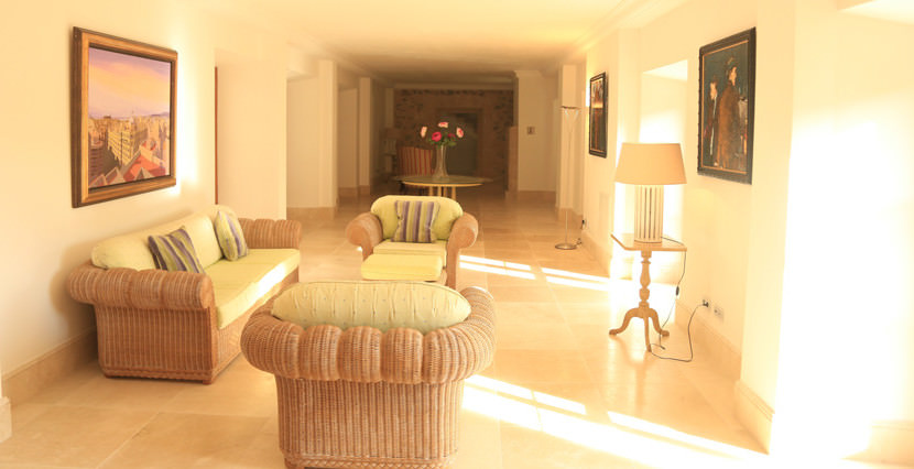 unique villas mallorca impressive manor estate for sale in Puigpunyent living area