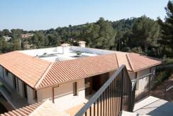 unique villas mallorca new modern villa for sale in Son Vida kitchen roof views