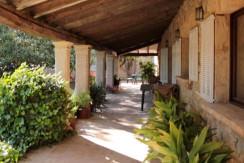 unique villas mallorca spectacular 19th century house for sale in Establiments porch area