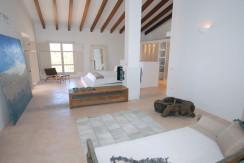 unique villas mallorca wonderful country house for sale in Santanyi living area