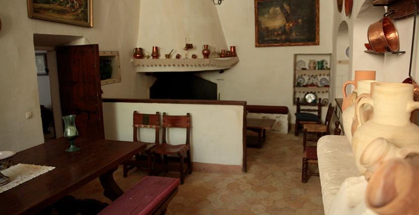 uniquevillasmallorca finca for sale in alaro view kitchen area