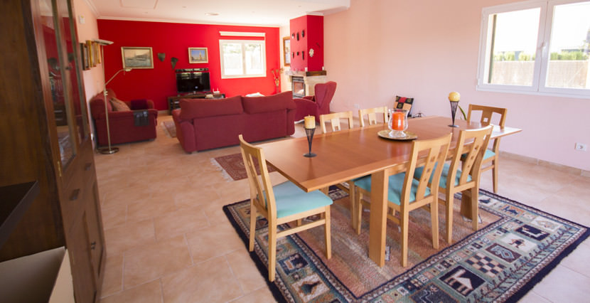 uniquevillasmallorca lovely villa for sale in cala vinyas living and dining areas
