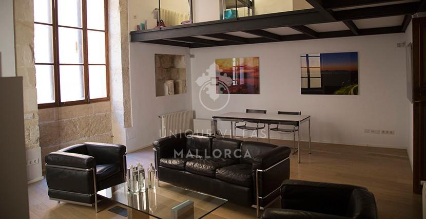 uniquevillasmallorca loft for sale in palma center dining area