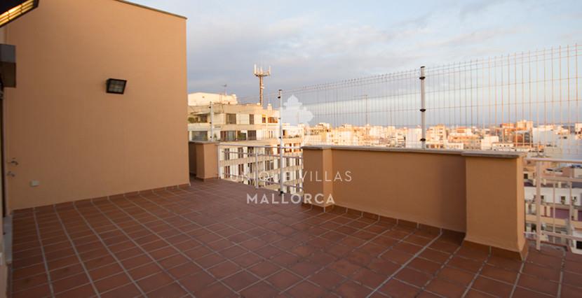 uniquevillasmallorca penthouse for sale in Avenidas terrace view