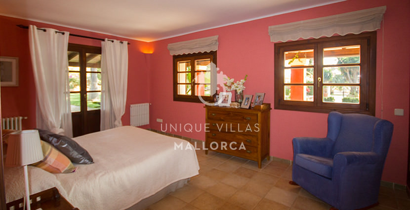 unique villas mallorca finca for sale in sencelles bedroom1