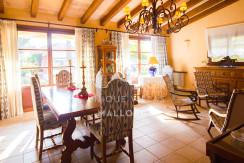 unique villas mallorca finca for sale in sencelles dining area