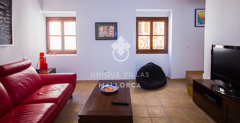 unique villas mallorca lovely 1 bedroom townhouse for sale in valldemosssa living area