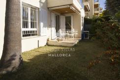 uniquevillasmallorca ground floor for sale in La Bonanova garden terrace
