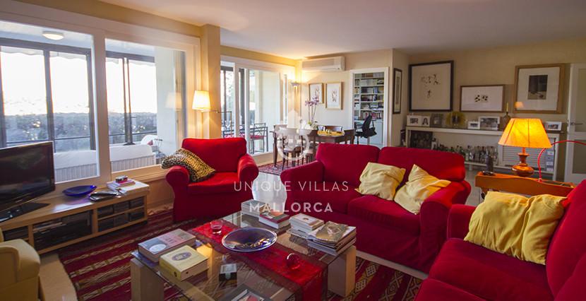 uniquevillasmallorca ground floor for sale in La Bonanova living area