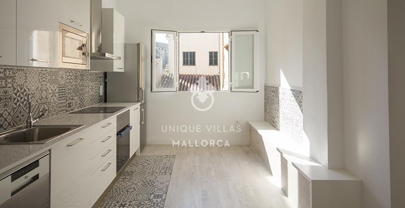 uniquevillasmallorca reformed flat for sale in Palma center kitchen