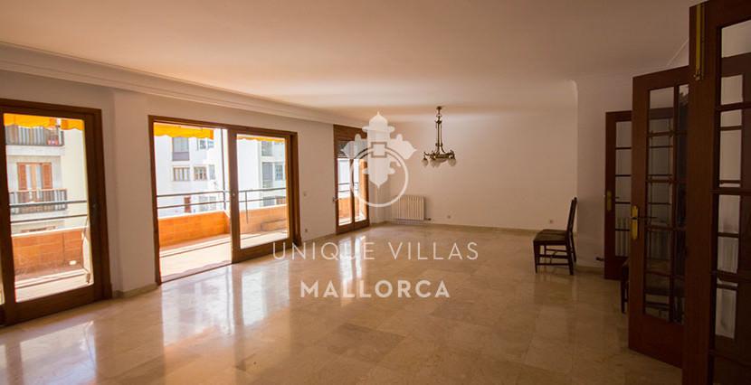 uniquevillasmallorca flat for sale in Palma center living dining area