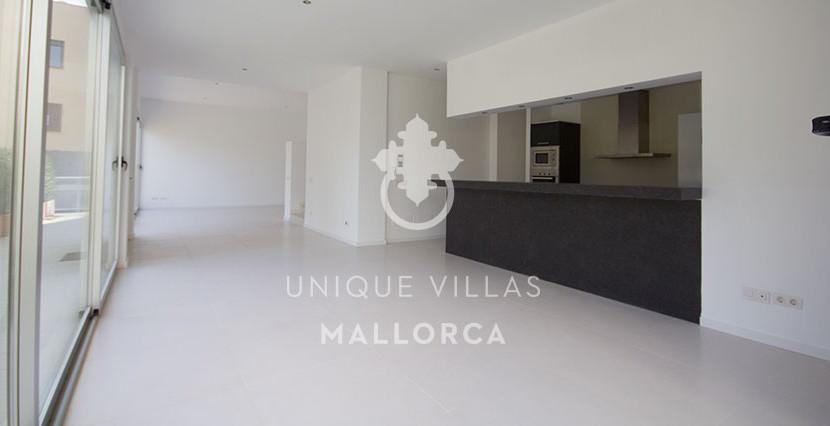 modern ground floor for sale in Santa Ponsa living dining area