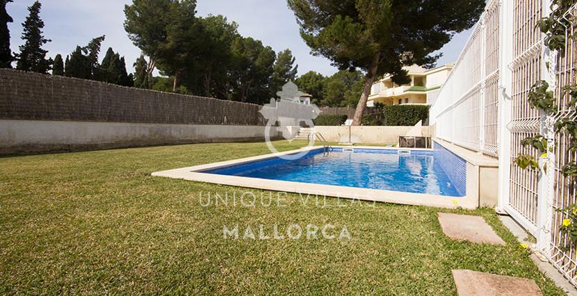 modern ground foor for sale in Santa Ponsa pool