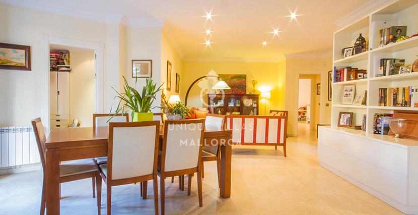 uniquevillasmallorca flat for sale in La Bonanova with swimming pool living area